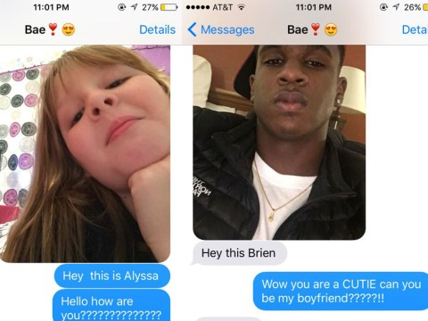 Little girl tries to steal her sister's boyfriend over text