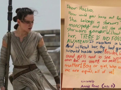 'Where's Rey in the Star Wars Monopoly set?' asks 8-year-old girl