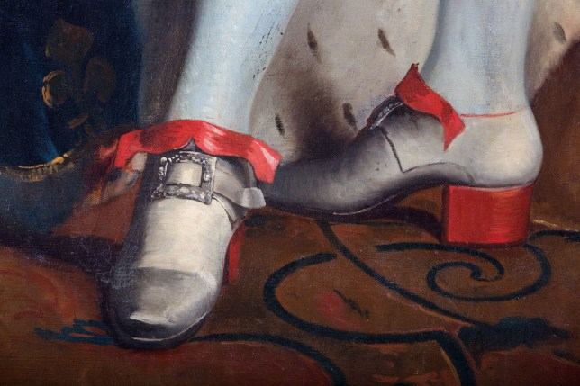2fa40e349cfc Louis XIV loved shoes with a red sole and heel (Picture  Alamy)