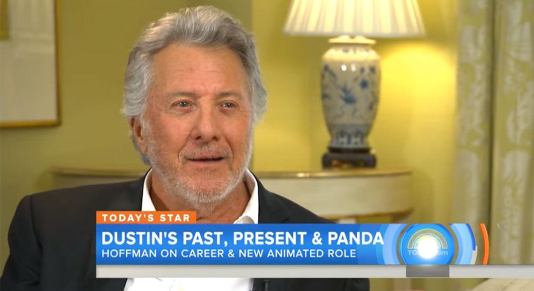 Dustin Hoffman isn't sure what animal he plays in the Kung Fu Panda movies…