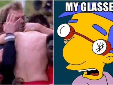 Jurgen Klopp broke his glasses celebrating Liverpool winner v Norwich City