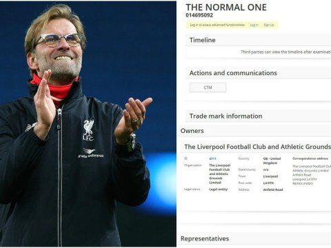 Liverpool want to trademark Jurgen Klopp's nickname 'the Normal One'