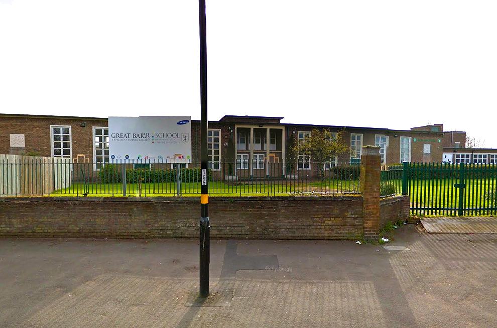 Great Barr school in Birmingham (Picture: Google Maps)