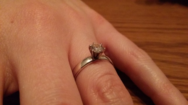 Stunning homemade engagement ring posted on Reddit by Jarvicious