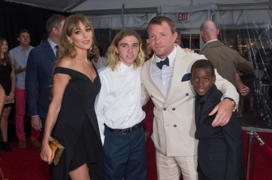 Jacqui Ainsley, Rocco Ritchie, Guy Ritchie and David Ciccone Ritchie (Picture:Mark Sagliocco/FilmMagic)