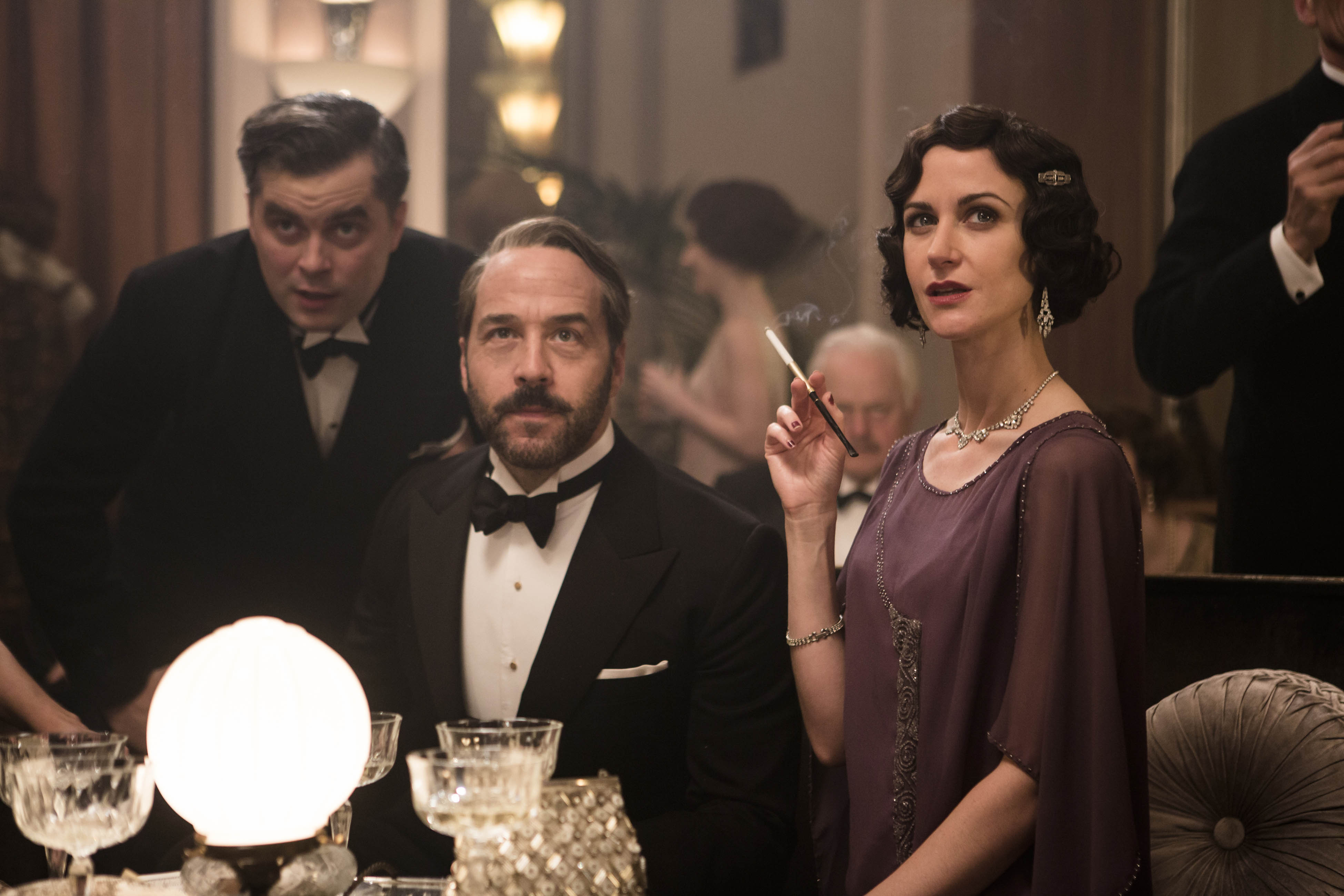 ITV STUDIOS PRESENTS MR SELFRIDGE SERIES 4 Pictured: TRYSTAN GRAVELLE as Victor, JEREMY PIVEN as Harry Selfridge and KATHERINE KELLY as Mae Rennard. This image is the copyright of ITV and is for one use only in relation to Mr Selfridge.