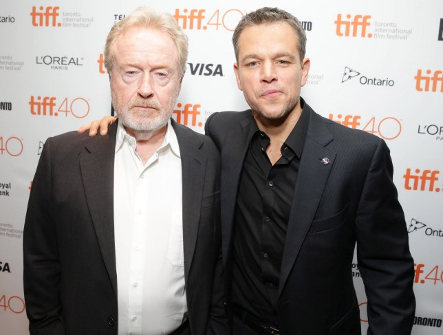 Ridley Scott, Matt Damon 'The Martian' Premiere, Toronto International Film Festival, Canada - 11 Sep 2015