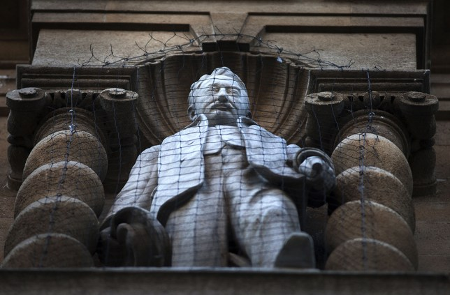 Mandatory Credit: Photo by REX/Shutterstock (5541192c) The controversial Statue of Cecil Rhodes on the front of Oriel Collage in the High Street Statue of Cecil Rhodes outside Oriel College, Oxford, Britain - 14 Jan 2016