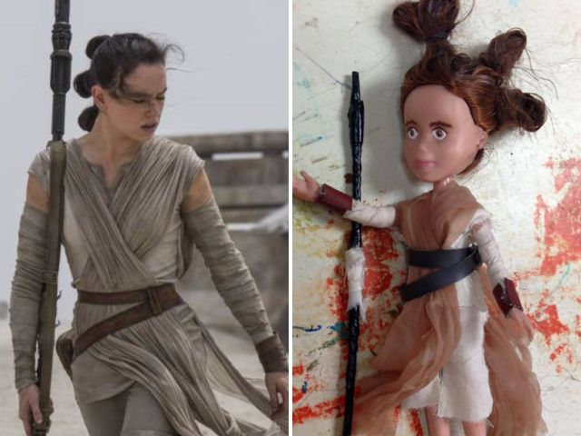 Kids have turned their Bratz Dolls into brilliant figures of Rey from Star Wars: The Force Awakens