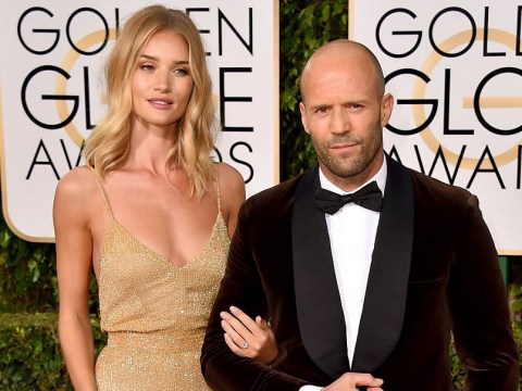 Rosie Huntington-Whiteley and Jason Statham confirmed their engagement at the Golden Globes 2016