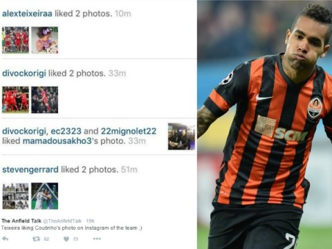 Alex Teixeira appears to drop hint on Instagram about Liverpool transfer