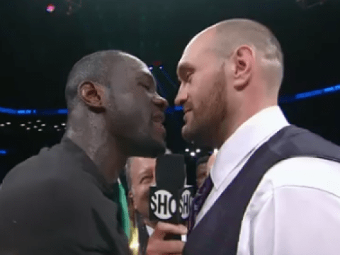 Watch: Tyson Fury storms the ring to call out Deontay Wilder after heavyweight title defence