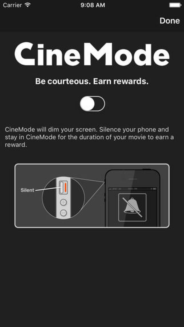 Cinemark movie app will reward you for not using phone in