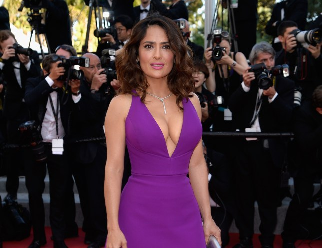 """CANNES, FRANCE - MAY 17: Actress Salma Hayek attends the Premiere of """"Rocco And His Brothers"""" during the 68th annual Cannes Film Festival on May 17, 2015 in Cannes, France. (Photo by Pascal Le Segretain/Getty Images)"""