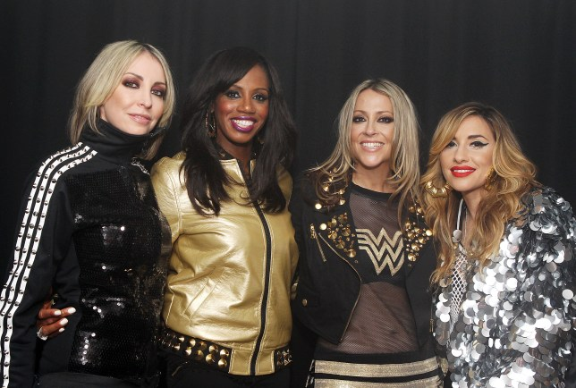 LONDON, UNITED KINGDOM - APRIL 12: Natalie Appleton, Shaznay Lewis, Nicole Appleton and Melanie Blatt of All Saints pose backstage at Heaven at G-A-Y on April 12, 2014 in London, England. (Photo by Jo Hale/Redferns via Getty Images)
