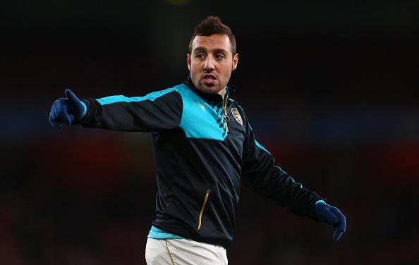 Santi Cazorla aiming to return for second leg of Arsenal v Barcelona