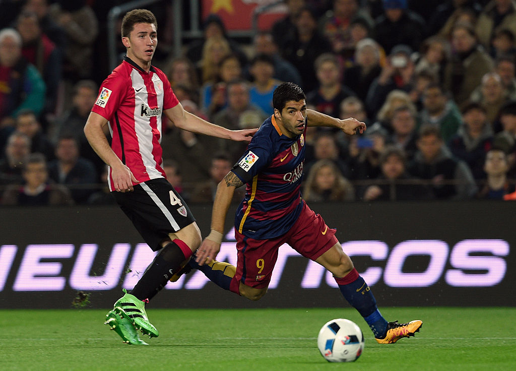 Rumour: Manchester City desperate to beat Manchester United to Aymeric Laporte transfer