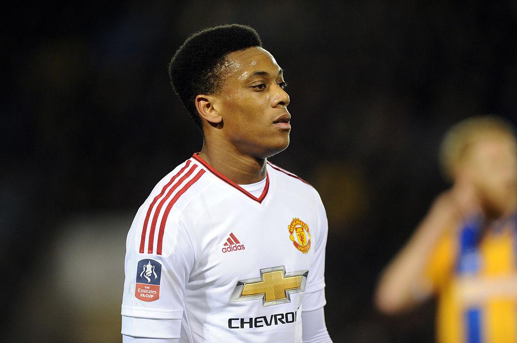 Anthony Martial misses Manchester United v FC Midtjylland through injury