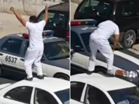 Twerking drunk knocks out police officer with roundhouse kick