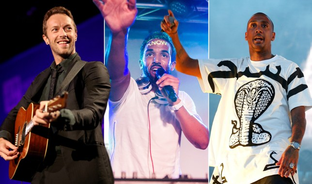 Radio 1 Big Weekend is coming to Devon with Craig David Coldplay and Chase & Status Credit: Getty Images