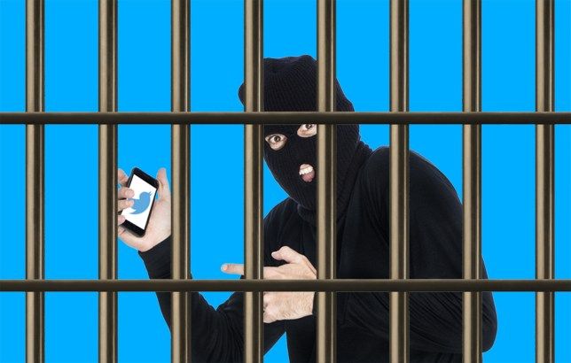 Thief busted when he signed into his Twitter account during raid Credit: Getty/Metro