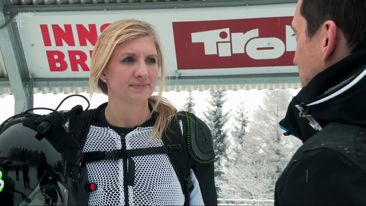 Rebecca Adlington was injured on The Jump in January (Picture: WENN)