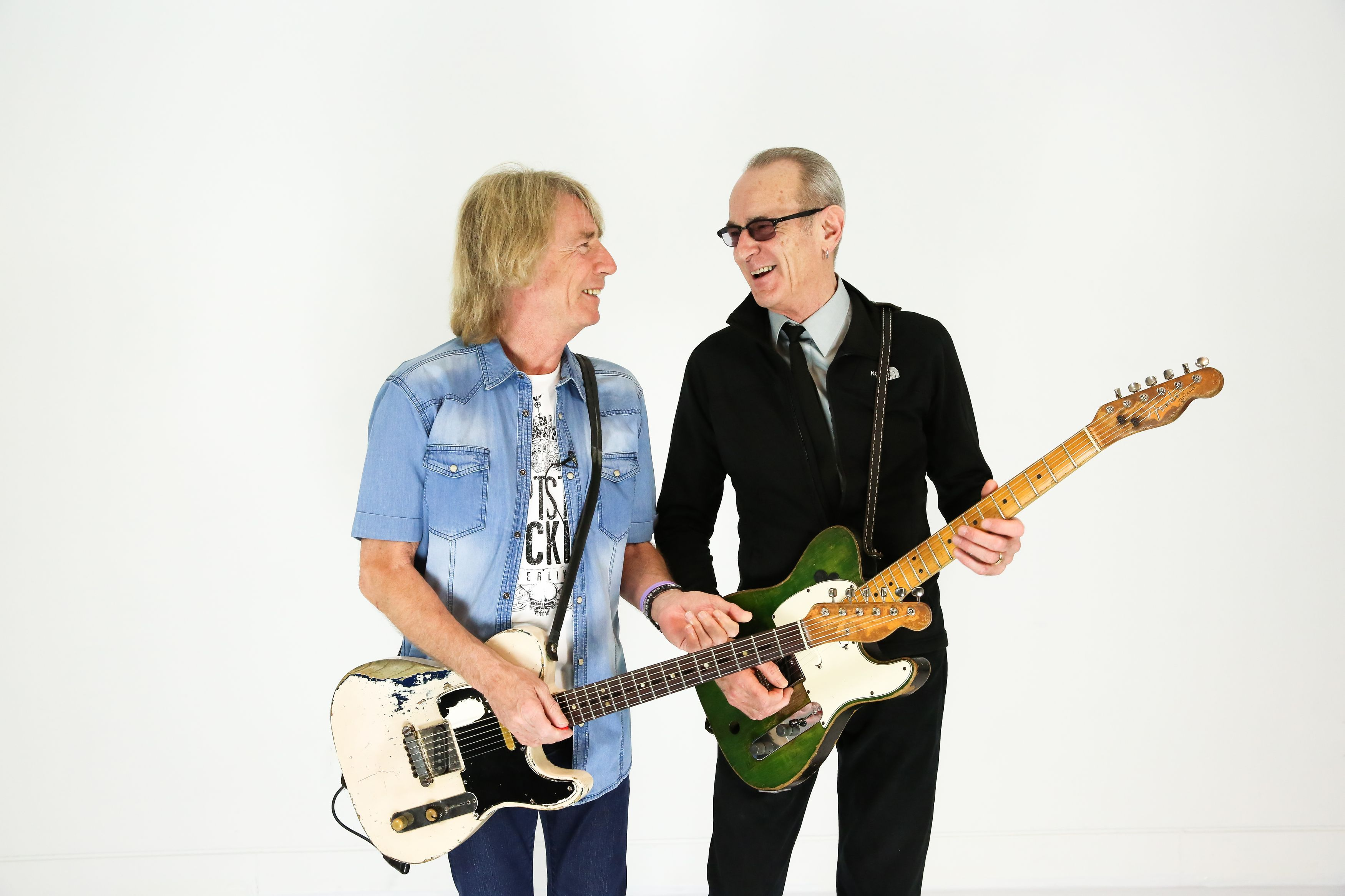 Undated handout photo of Rick Parfitt (left) and Francis Rossi of Status Quo who have said their tour at the end of this year will be the last one of its kind as they hang up their electric guitars. PRESS ASSOCIATION Photo. Issue date: Monday February 1, 2016. The band - Francis Rossi, Rick Parfitt, Andy Bown, John 'Rhino' Edwards and Leon Cave - will tour Europe in October, followed by UK performance dates in December 2016, but it will be their last tour featuring their trademark electric guitars. Tickets for the tour, which is called The Last Night Of The Electrics, will be on sale from February. See PA story SHOWBIZ StatusQuo. Photo credit should read: Christie Goodwin/PA Wire NOTE TO EDITORS: This handout photo may only be used in for editorial reporting purposes for the contemporaneous illustration of events, things or the people in the image or facts mentioned in the caption. Reuse of the picture may require further permission from the copyright holder.