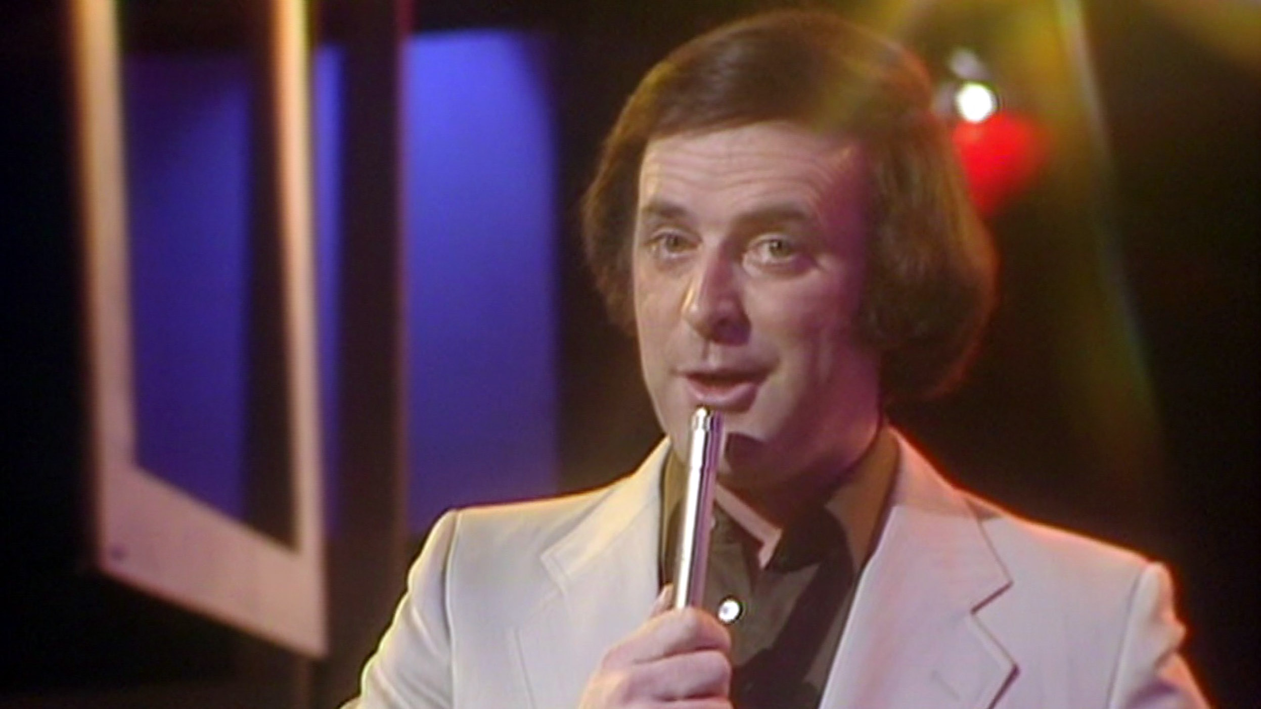 pic shows: Terry Wogan deathnnOn Top of the Pops singling The Floral DancennnPicture BBC supplied by Pixel8000 07917221968