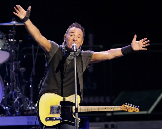 Bruce Springsteen & The E Street Band perform in concert, Tuesday, Feb. 23, 2016, in Cleveland. (AP Photo/Tony Dejak)