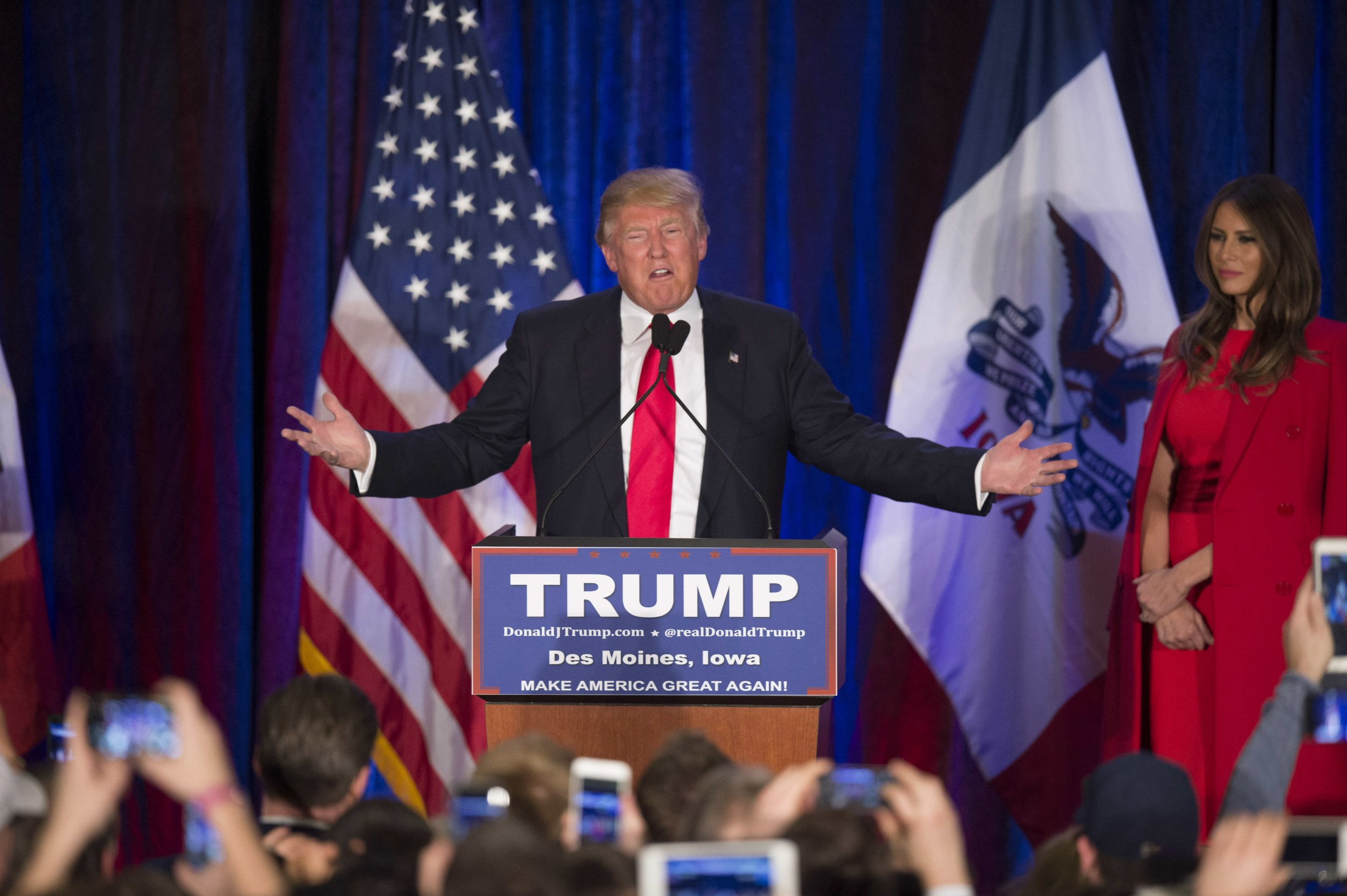 Republican Presidential candidate Trump was beaten by Ted Cruz (Picture: Getty)