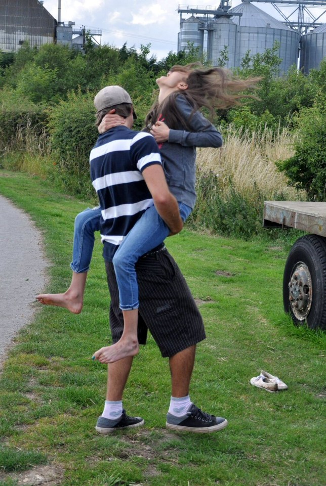 PIC FROM CATERS NEWS - (PICTURED: Georgia McGrath with her boyfriend Ashton Benton when she broke her ribs) - A five-stone model who was so skeletal she snapped her ribs hugging her boyfriend has made a miraculous recovery. Georgia McGrath, 18, from Hull, was diagnosed with the deadly eating disorder in 2012 and began living off just 100 calories per day. Her unhealthy diet caused daily seizures and she struggled to walk unaided. The model plummeted to a shocking five stone, after losing half of her original body weight and she had a dangerously low BMI of 11.6, with the recommended range from 18.5 and 25. SEE CATERS COPY.