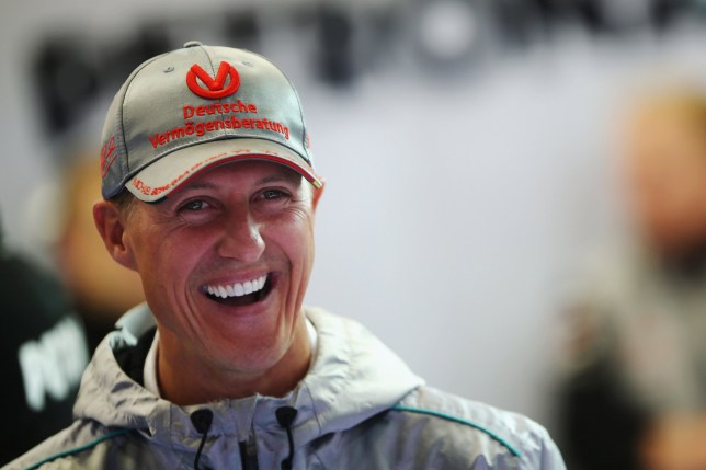 SPA FRANCORCHAMPS, BELGIUM - AUGUST 31: Michael Schumacher of Germany and Mercedes GP prepares to drive during practice for the Belgian Grand Prix at the Circuit of Spa Francorchamps on August 31, 2012 in Spa Francorchamps, Belgium. (Photo by Mark Thompson/Getty Images)