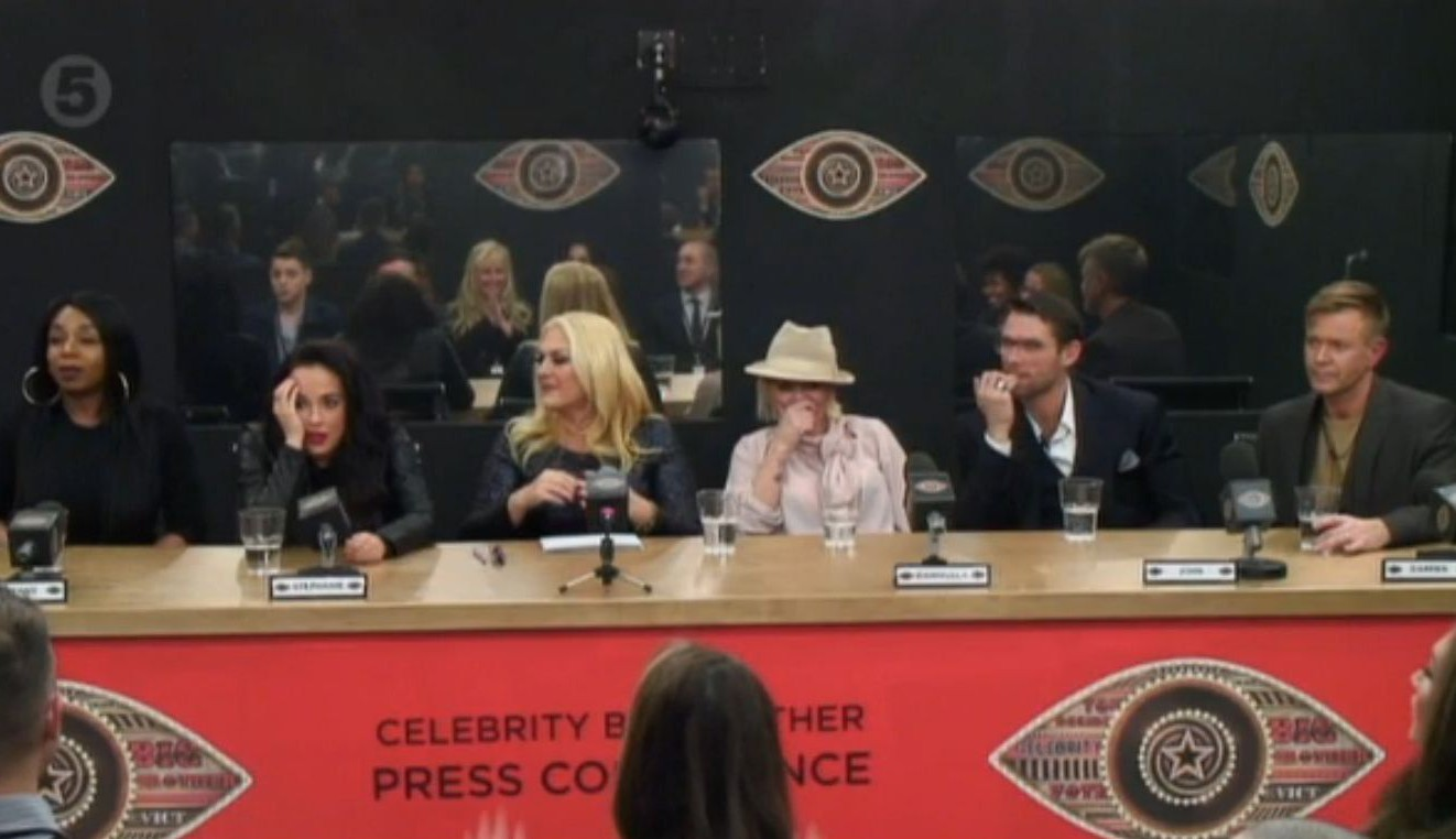 Editorial Use Only Mandatory Credit: Photo by REX/Shutterstock (5581733ai) Housemates hold a press conference 'Celebrity Big Brother' TV show, Elstree Studios, Hertfordshire, Britain - 4 Feb 2016