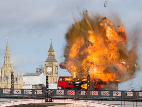 Jackie Chan just blew up a bus near the Houses of Parliament… for his new film The Foreigner