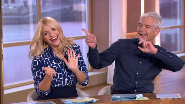"""****Ruckas Videograbs**** (01322) 861777 *IMPORTANT* Please credit ITV for this picture. 10/02/16 This Morning - ITV1 Grabs from this morning's show which saw Holly Willoughby being given a birthday surprise - a boat sailing by on the River Thames that had a big banner on it saying Happy Birthday Holly on it. Holly and Phillip also sang along to Stevie Wonder's """"Happy Birthday"""" hit. Office (UK) : 01322 861777 Mobile (UK) : 07742 164 106 **IMPORTANT - PLEASE READ** The video grabs supplied by Ruckas Pictures always remain the copyright of the programme makers, we provide a service to purely capture and supply the images to the client, securing the copyright of the images will always remain the responsibility of the publisher at all times. Standard terms, conditions & minimum fees apply to our videograbs unless varied by agreement prior to publication."""