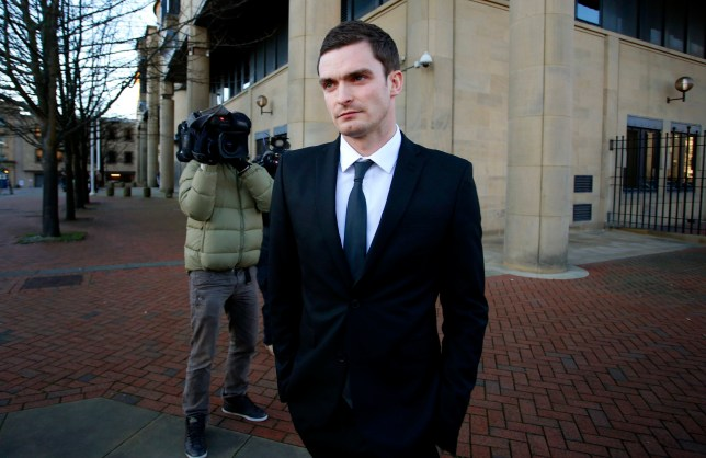 England footballer Adam Johnson, 28, leaves Bradford Crown Court, Bradford, where he has pleaded guilty to grooming and sexual activity with a 15-year-old girl on the first day of his trial. PRESS ASSOCIATION Photo. Picture date: Wednesday February 10, 2016. Johnson admitted one count of sexual activity with a girl under 16 and a further count of grooming after being arraigned on the charges, but continues to deny two further counts of sexual activity with a child. See PA story COURTS Johnson. Photo credit should read: Peter Byrne/PA Wire
