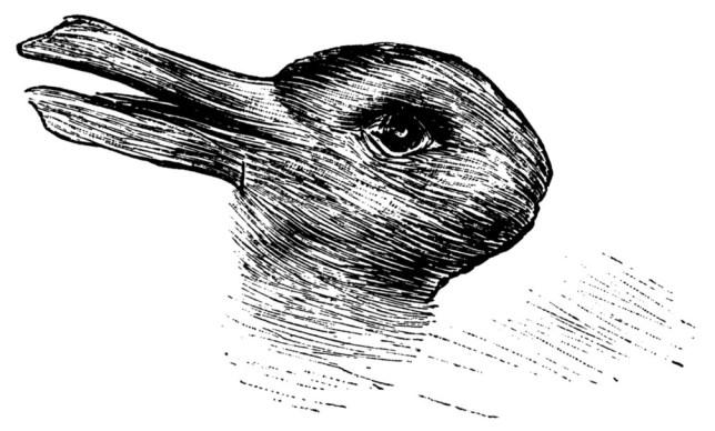 """Duckrabbit """"Kaninchen und Ente"""" (""""Rabbit and Duck"""") from the 23 October 1892 issue of Fliegende Blätter"""