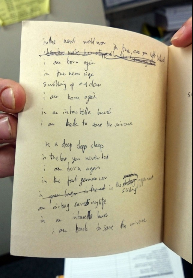 PIC FROM CATERS NEWS - (PICTURED: The tatty paperback once belonging to Radiohead front man Thom Yorke.) - Some of Radioheads most famous lyrics could have been taken from WILLIAM BLAKE after charity shop workers found a draft in a TATTY PAPERBACK. Lines from the song Airbag were found by volunteers at an Oxfam bookshop in Oxford, contained inside an old copy of Blakes Songs of Innocence and Experience and appeared to have taken inspiration from Blake himself. It was only when the scrawling was found in the book crammed alongside Blakes text, that the workers realised it was the copy that had been donated by Radiohead frontman Thom Yorke. After rare book specialist Andrew Chapman, 48, looked over the book however, it was taken off the shelves for the measly 50p it was marketed for and now could fetch thousands at auction. SEE CATERS COPY