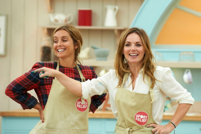 WARNING: Embargoed for publication until 00:00:01 on 09/02/2016 - Programme Name: The Great Sport Relief Bake Off 2016 - TX: n/a - Episode: n/a (No. 3) - Picture Shows: **EMBARGOED FOR PUBLICATION UNTIL 00:00 HRS ON TUESDAY 9TH FEBRUARY 2016** Louise Redknapp, Geri Horner - (C) Love Productions - Photographer: Ian Tuttle