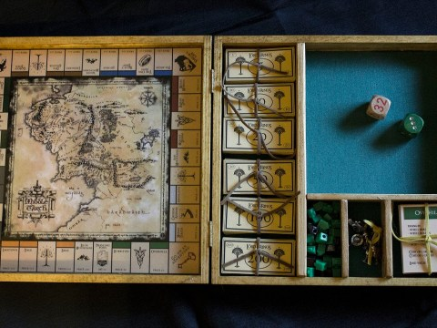 Woman makes homemade Lord of the Rings Monopoly board and it's beautiful