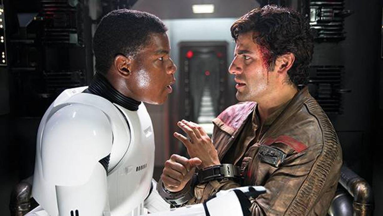 Here's a picture of John Boyega and Oscar Isaac as 18th Century bros