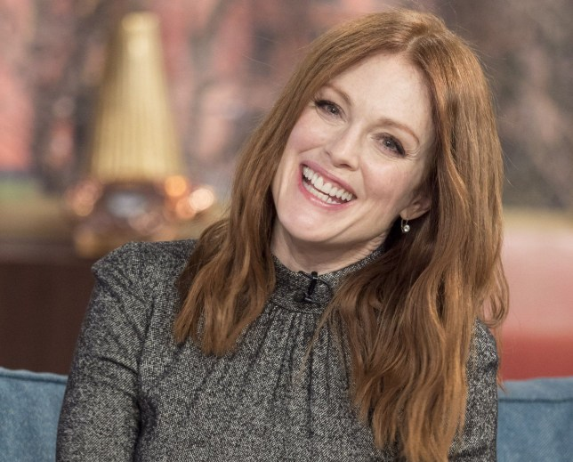 EDITORIAL USE ONLY. NO MERCHANDISING Mandatory Credit: Photo by Ken McKay/ITV/REX/Shutterstock (5587754p) Julianne Moore 'This Morning' TV show, London, Britain - 17 Feb 2016 Julianne Moore, Oscar winner, talks about pushing the boundaries