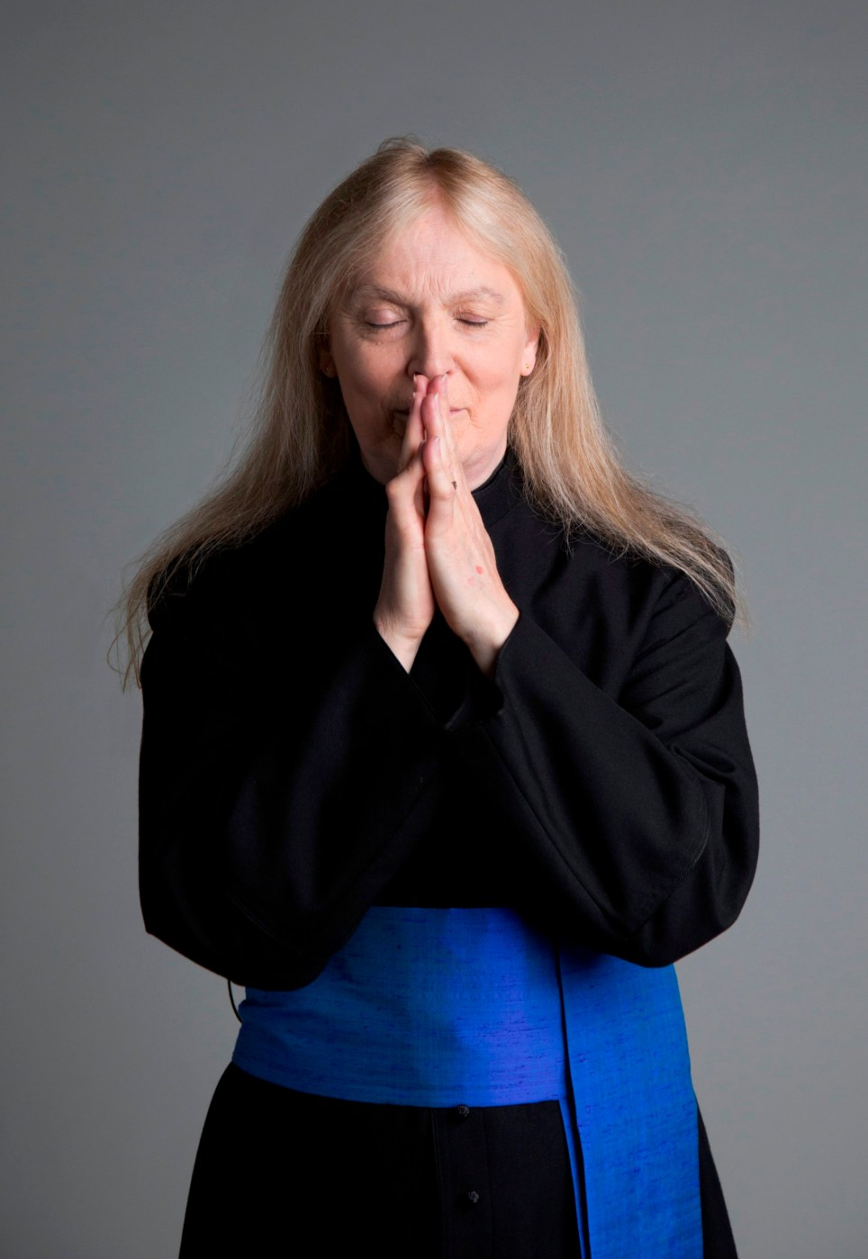 Revd Dr. Christina Beardsley. See SWNS story SWPRIEST; A groundbreaking exhibition has opened, showcasing for the first time in the UK the plight - of transgender PRIESTS. A number of brave priests have been photographed as part of the project that shows the struggles of those who face gender issues within their various religions. The Revd Dr Christina Beardsley is a Church of England priest used to be a hospital chaplain at Chelsea and Westminster Hospital - and she doesn't consider herself a man or a woman. Twilight People: Stories of Faith and Gender Beyond the Binary, collects sound, video, photographs, letters and objects revealing the hidden history of ìgender variantî people of Christian Muslim and Jewish faiths.
