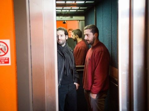 Shia LaBeouf is riding up and down in an elevator in Oxford as we speak