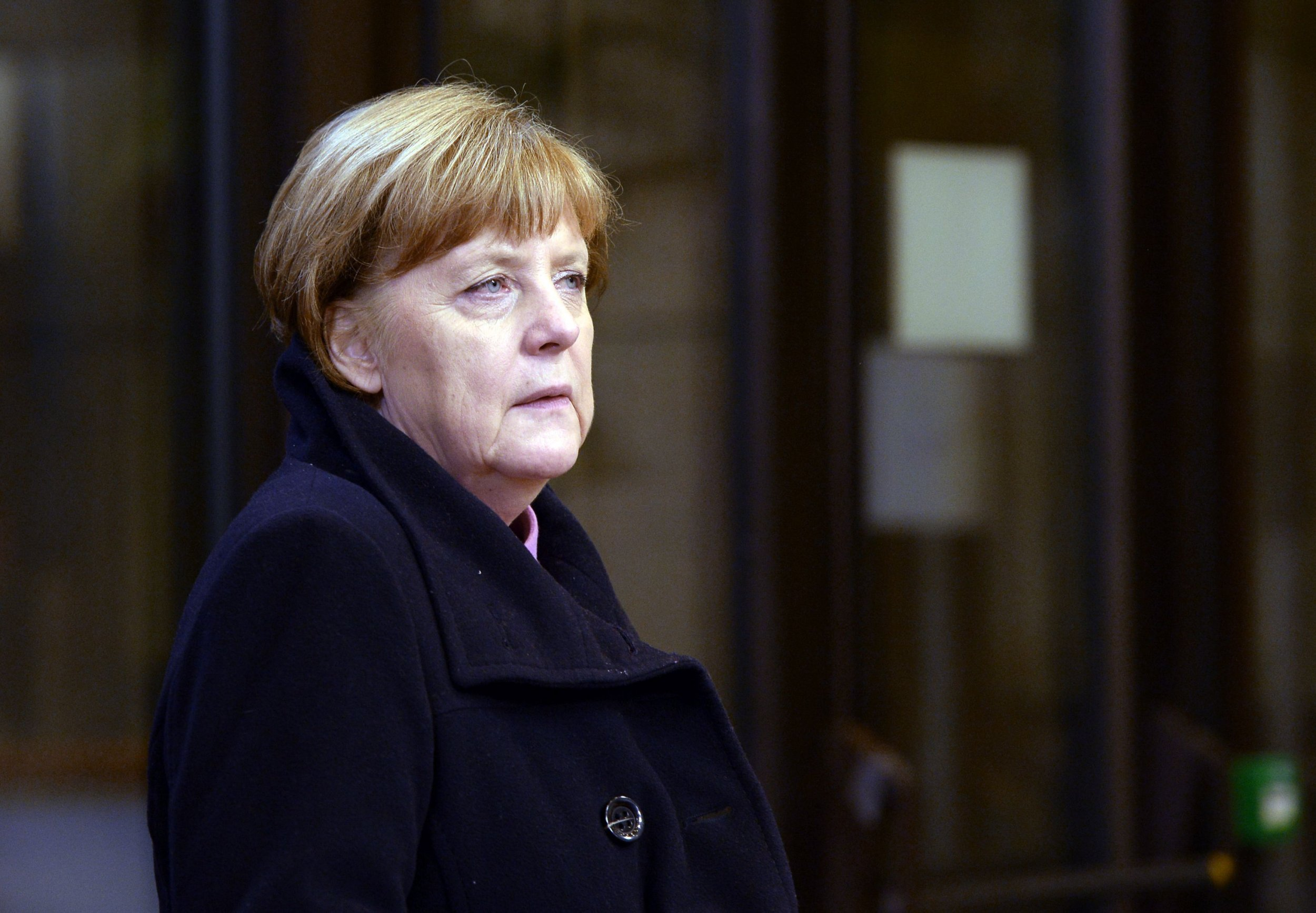 German Federal Chancellor Angela Merkel arrives at the European Union Council building to attend the working dinner of the European Summit in Brussels February 19, 2016. British Prime Minister David Cameron haggled with European leaders deep into a second night of summit talks on Friday, facing tough resistance to his bid for a reform deal to keep his country in the EU. / AFP / THIERRY CHARLIERTHIERRY CHARLIER/AFP/Getty Images