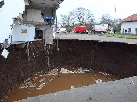 Look us in the eye and tell us this isn't one of the biggest sinkholes you've ever seen