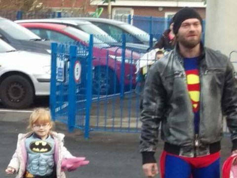 This super dad has just put real meaning in to the word hero