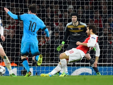 Mathieu Flamini destroys Arsenal's Champions League hopes by giving away penalty v Barcelona
