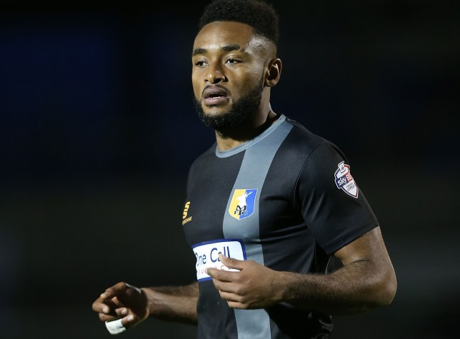 NORTHAMPTON, ENGLAND - NOVEMBER 14: Adi Yussuf of Mansfield Town in action during the Sky Bet League Two match between Northampton Town and Mansfield Town at Sixfields Stadium on November 14, 2015 in Northampton, England. (Photo by Pete Norton/Getty Images)