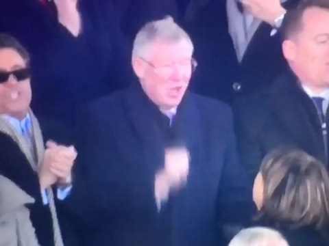 Manchester United legend Sir Alex Ferguson spotted singing in the stands after victory over Arsenal